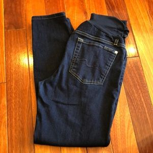 7 for all Mankind Maternity Stretch Jeans Cropped